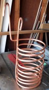 Stretch the coil to form the chiller.