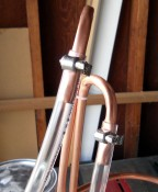 Connect tubing to copper & secure with hose clamps.